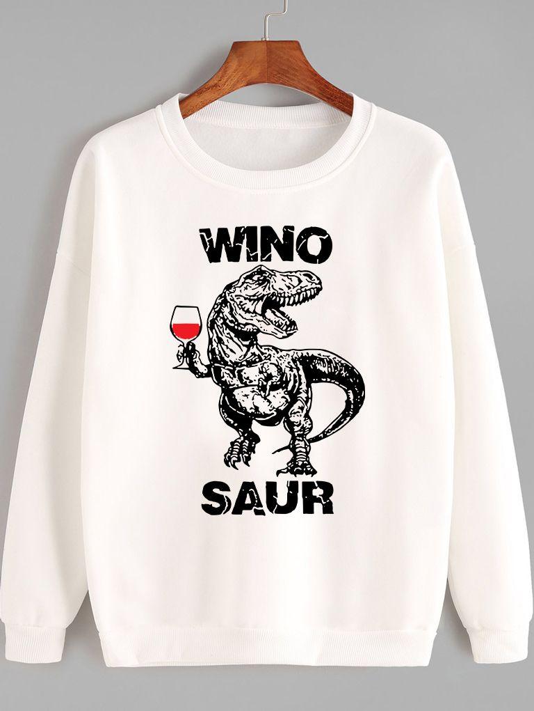 Bluza w kolorze białym Winosaur Rex Love&Live
