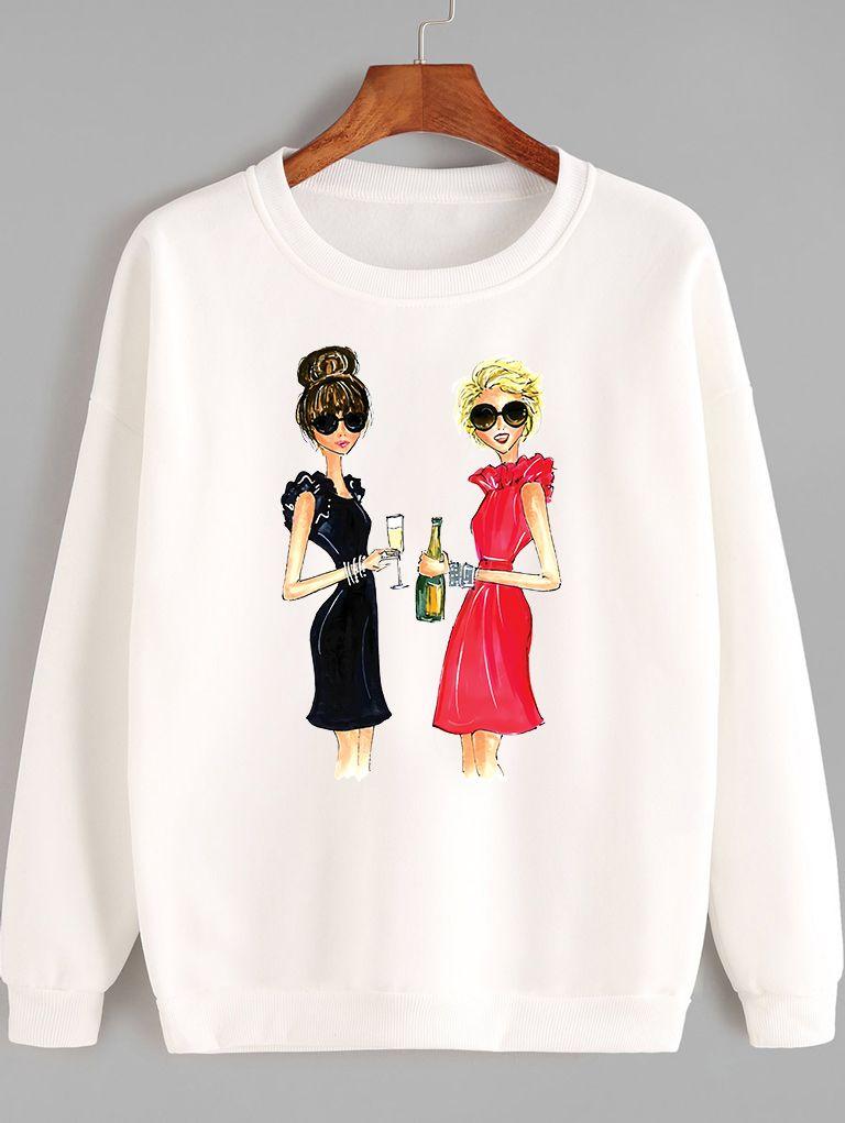 Bluza w kolorze białym Przyjaciółki Love&Live
