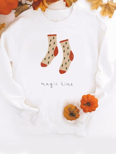 Bluza w kolorze białym Magic time ZUZU