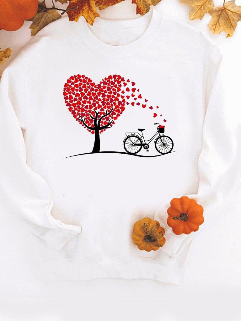 Bluza w kolorze białym Drzewo miłości-2 ZUZU