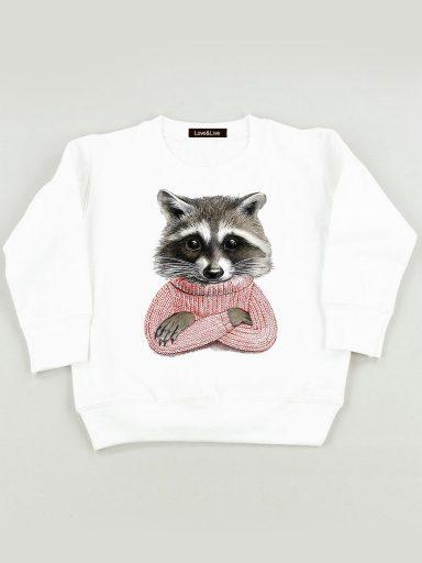 Bluza biała dla dzieci JENOT W SWETRZE Love&Live
