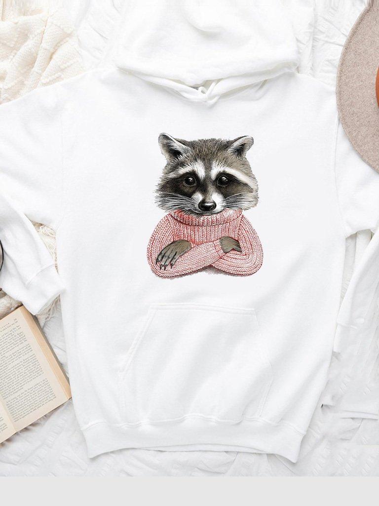 Bluza z kapturem w kolorze białym JENOT W SWETRZE Love&Live