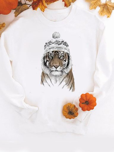 Bluza w kolorze białym Zimowy drapieżnik ZUZU