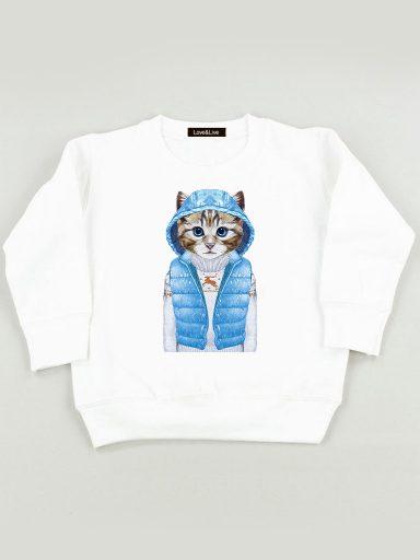 Bluza biała dla dzieci KOT W TRENDIE Love&Live