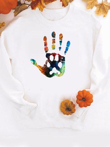 Bluza w kolorze białym Łapa (kolor) ZUZU