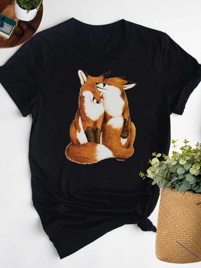 T-shirt czarny ZAKOCHANI Love&Live