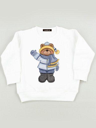 Bluza biała dla dzieci MIŚ Teddi Love&Live