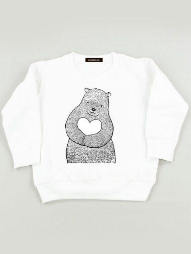 Bluza biała dla dzieci Niedźwiedzia miłość Love&Live