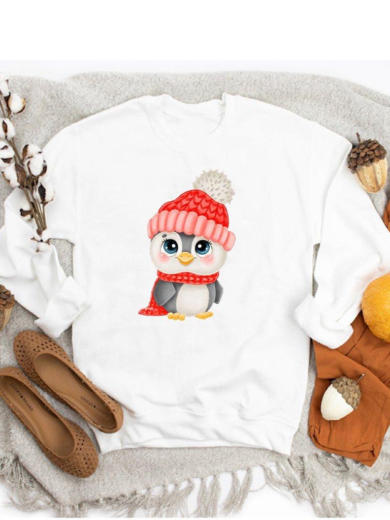 Bluza w kolorze białym Pingwin ZUZU
