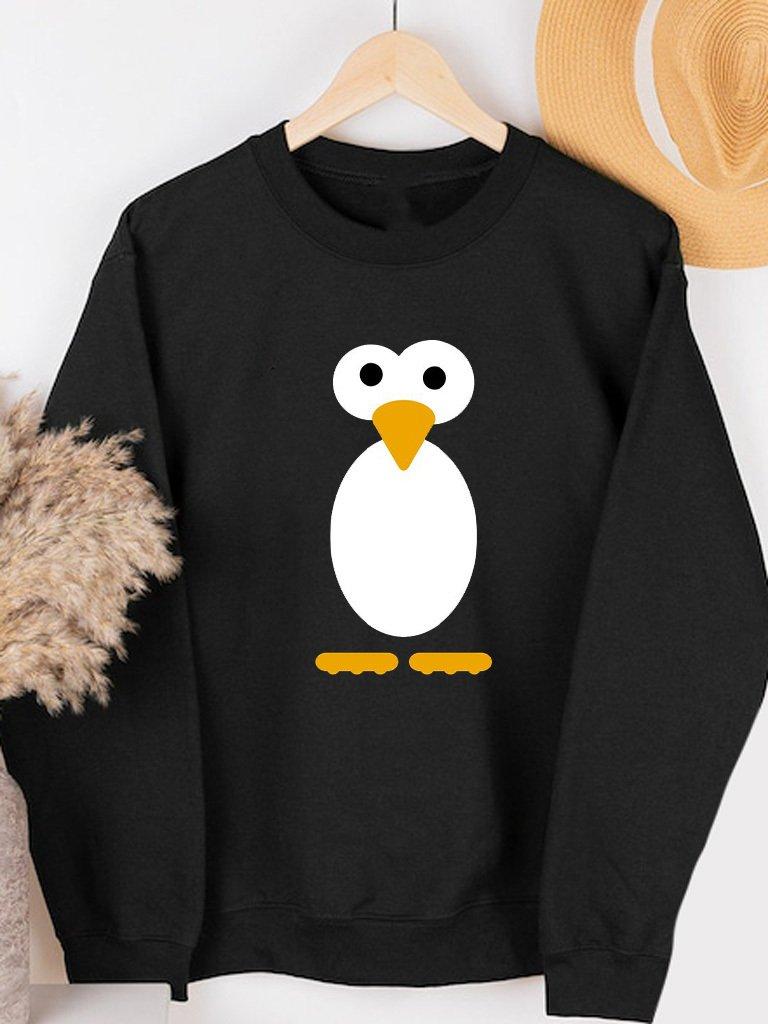 Bluza w kolorze czarnym PROSTO PINGWIN Love&Live