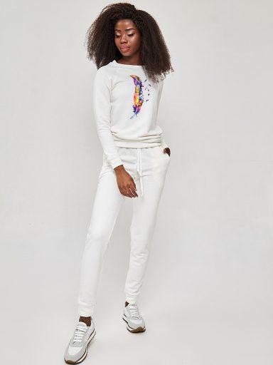 Zestaw dresowy w kolorze białym WOLNOŚĆ. AKWAREL Love&Live