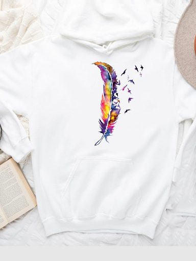 Bluza z kapturem w kolorze białym Wolność Love&Live