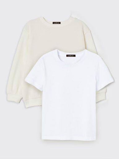 Zestaw dziecięcy bluza i t-shirt w kolorze białym Love&Live