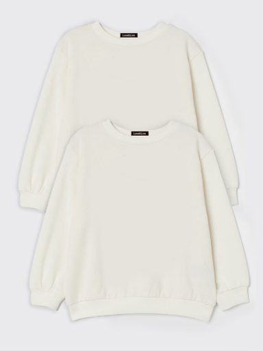Zestaw dziecięcy z 2 bluz w kolorze białym Love&Live