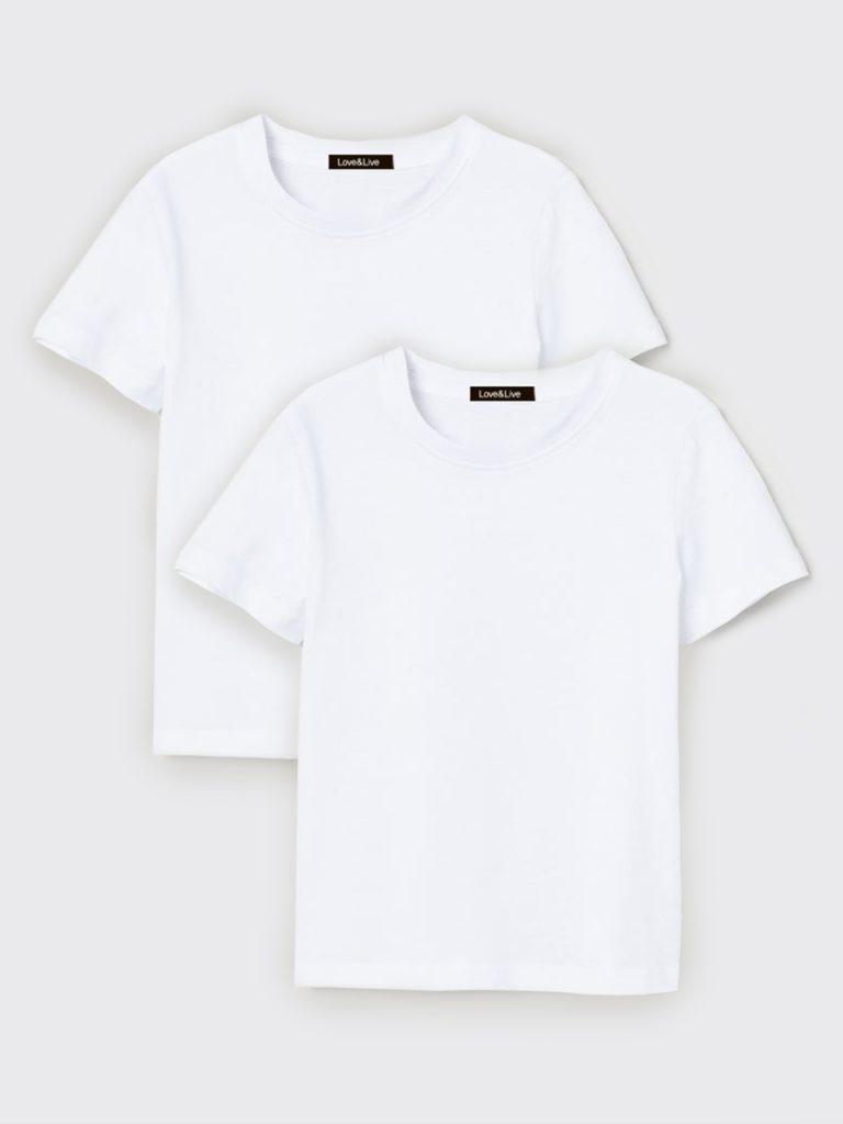 Zestaw dziecięcy 2 t-shirt w kolorze białym Love&Live