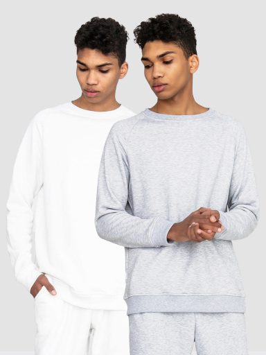 Zestaw męskich bluz 2 szt.(biała, szara) Love&Live