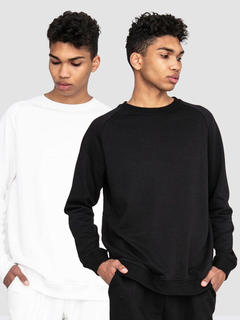 Zestaw męskich bluz 2 szt.(czarna, biała) Love&Live