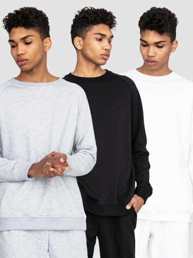 Zestaw męskich bluz 3 szt.(czarna, biała, szara ) Love&Live