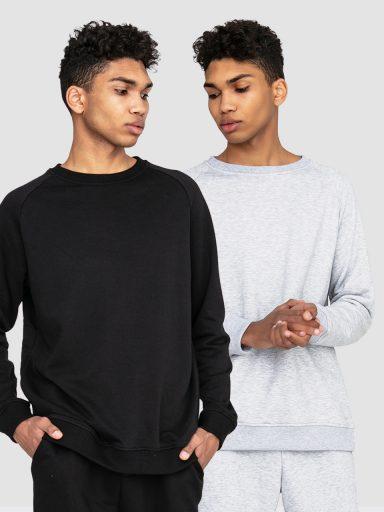 Zestaw męskich bluz 2 szt.(czarna, szara) Love&Live