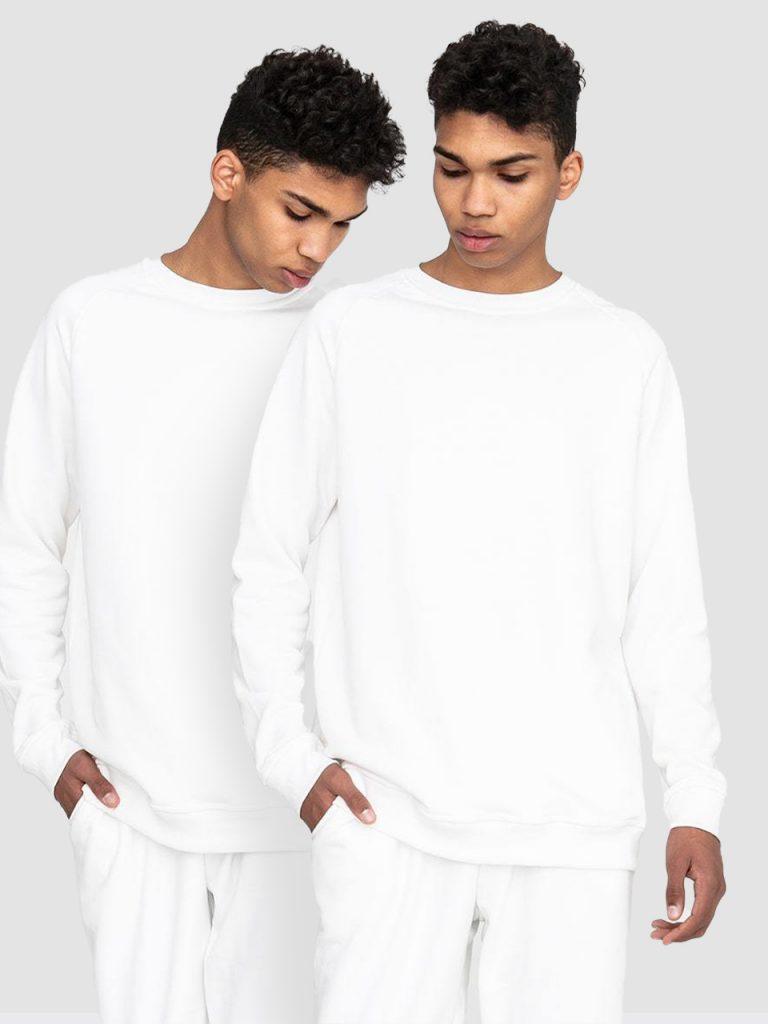 Zestaw męskich białych bluz 2 szt. Love&Live