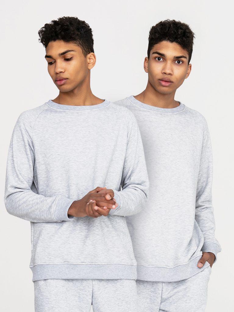 Zestaw męskich szarych bluz 2 szt. Love&Live