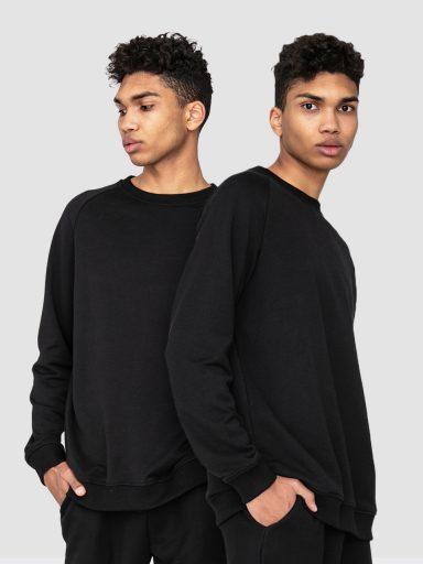 Zestaw męskich czarnych bluz 2 szt. Love&Live