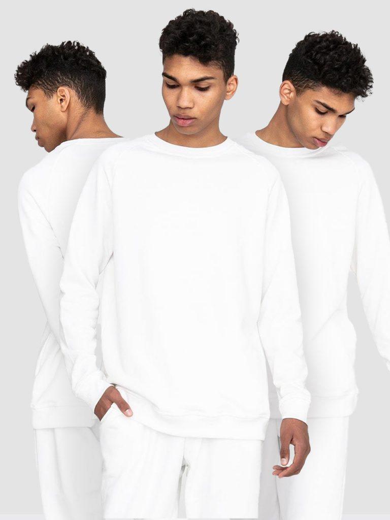 Zestaw męskich białych bluz 3 szt. Love&Live