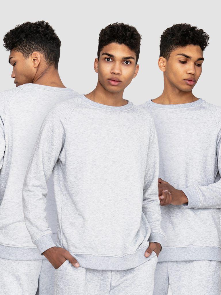 Zestaw męskich szarych bluz 3 szt. Love&Live