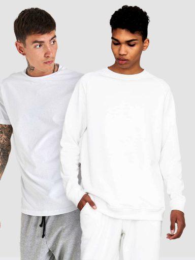 Zestaw biały męski (t-shirt, bluza) Love&Live