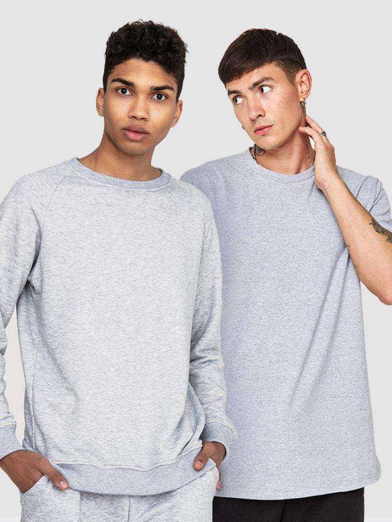 Zestaw szary męski (t-shirt, bluza) Love&Live