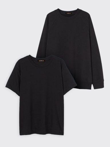Zestaw czarny t-shirt i bluza Love&Live