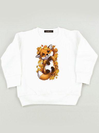 Bluza biała dla dzieci W Liściach Love&Live
