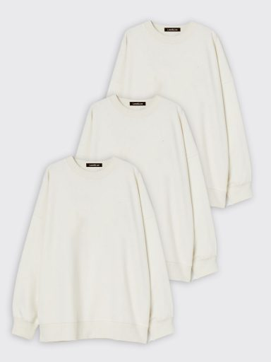 Zestaw białych bluz 3 szt. Love&Live