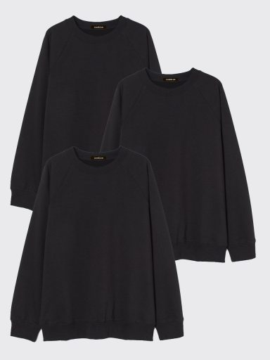 Zestaw czarnych bluz 3 szt. Love&Live