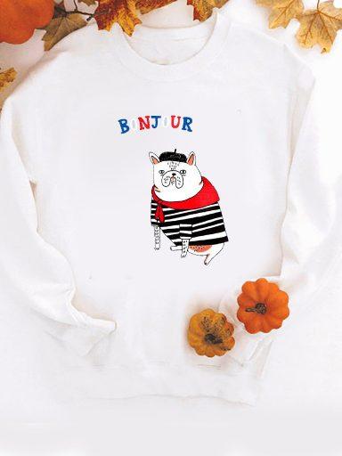 Bluza w kolorze białym Bonjour ZUZU