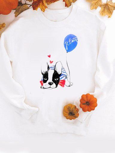 Bluza w kolorze białym Je t'aime ZUZU