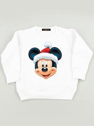 Bluza biała dla dzieci MICKEY CLAUS Love&Live