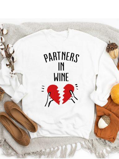 Bluza w kolorze białym PARTNERS IN WINE-2 ZUZU