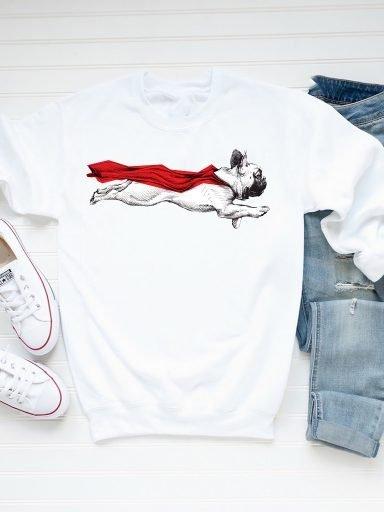 Bluza męska w kolorze białym SUPERDOG Love&Live