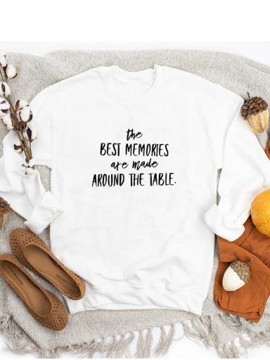 Bluza w kolorze białym THE BEST MEMORIES ZUZU
