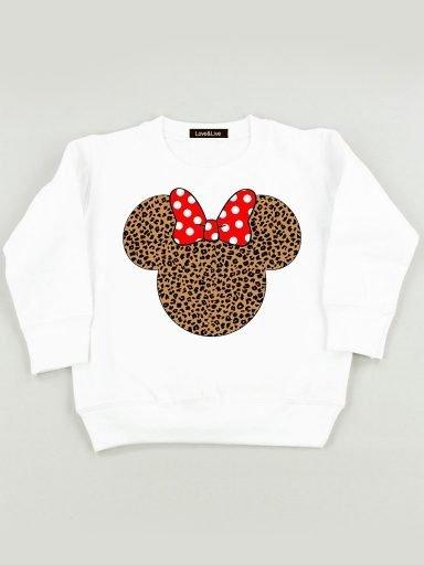 Bluza biała dla dzieci Wild Minnie Love&Live