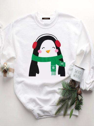 Bluza w kolorze białym PINGWIN MELOMAN Love&Live