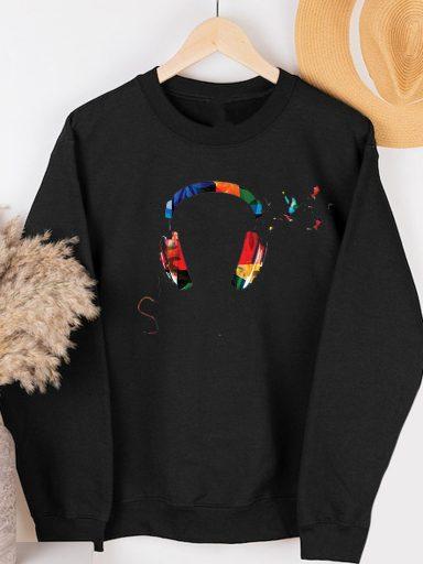 Bluza w kolorze czarnym KOLOR MOJEJ MUZYKI Love&Live