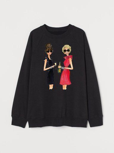 Bluza w kolorze czarnym Przyjaciółki Love&Live
