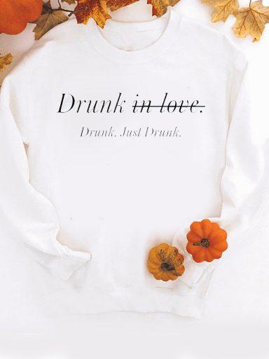 Bluza w kolorze białym Just drunk Love&Live