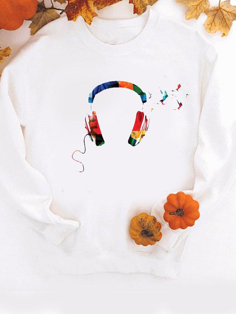 Bluza w kolorze białym KOLOR MOJEJ MUZYKI Love&Live