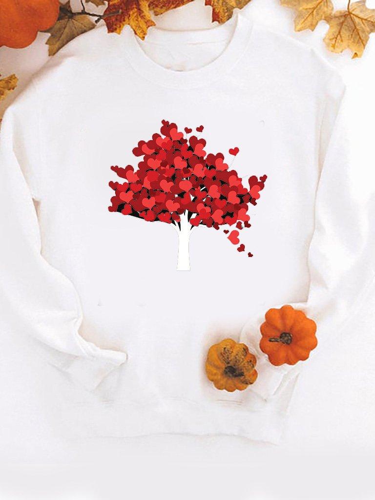 Bluza w kolorze białym Jesień Love&Live