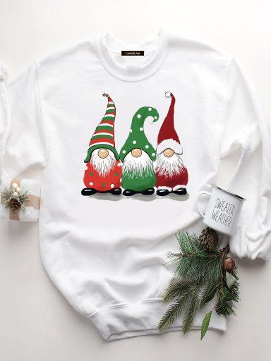 Bluza w kolorze białym CHRISTMAS GNOMES Love&Live