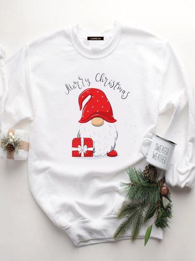 Bluza w kolorze białym CHRISTMAS PRESENT Love&Live