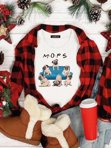 T-shirt biały FRIENDS MOPS Love&Live